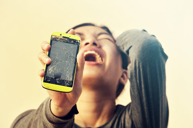 broken cell phone