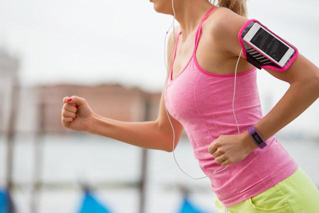 smartphone jogging